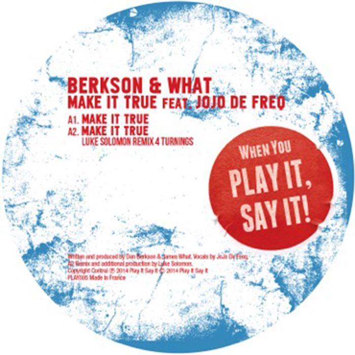 Berkson & What - Make It True cover