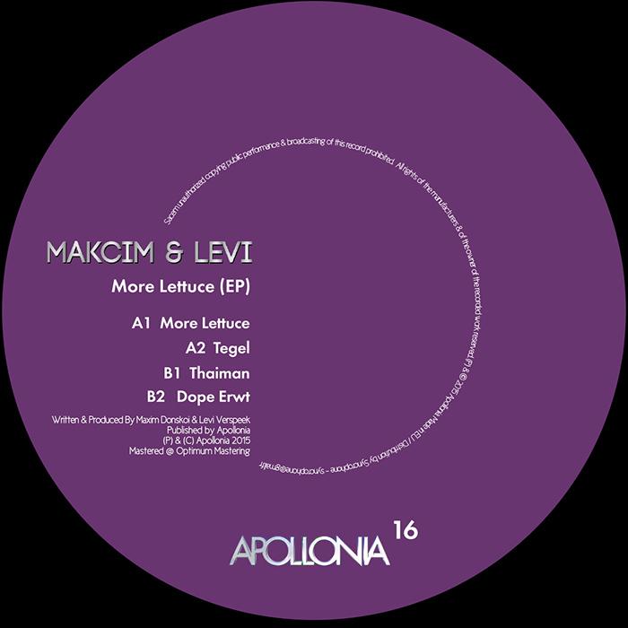 Makcim & Levi – More Lettuce EP cover