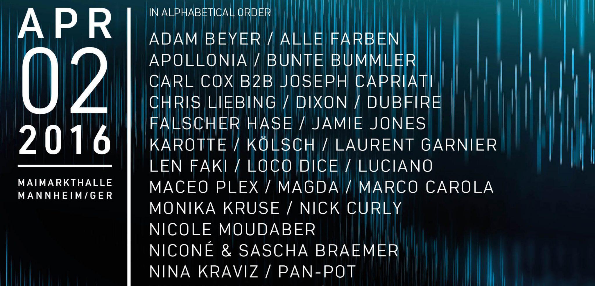 TIME WARP DE 2016 – Full Line Up Announced!!