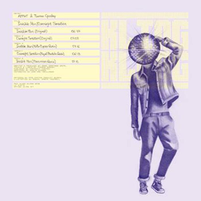 AFFKT & Thomas Gandey - Invisible man/Overnight Sensation cover