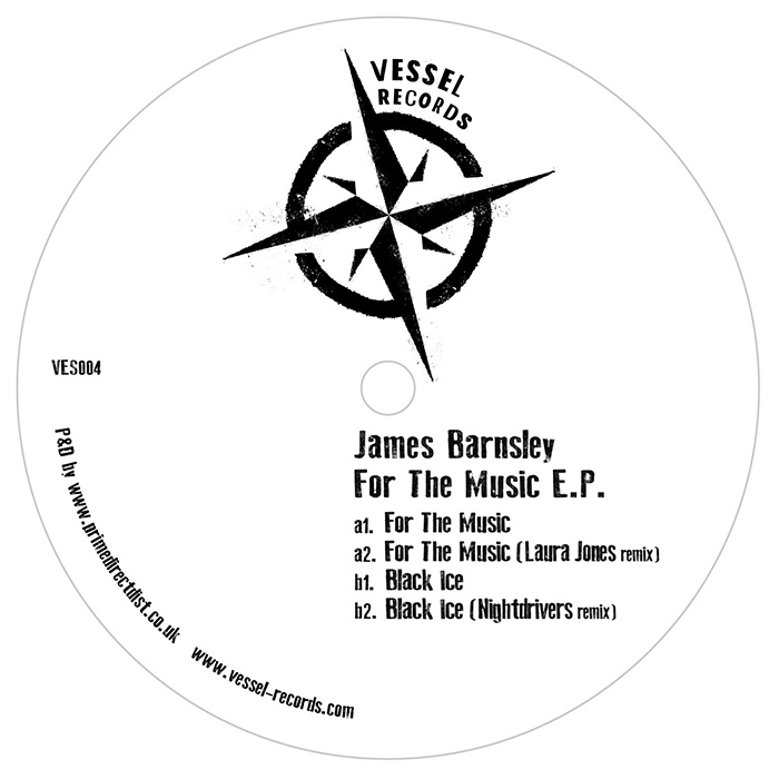 James Barnsley - For The Music EP cover