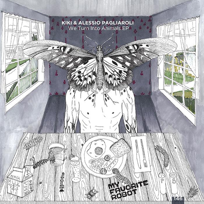 Kiki & Alessio Pagliaroli - We Turn Into Animals EP cover