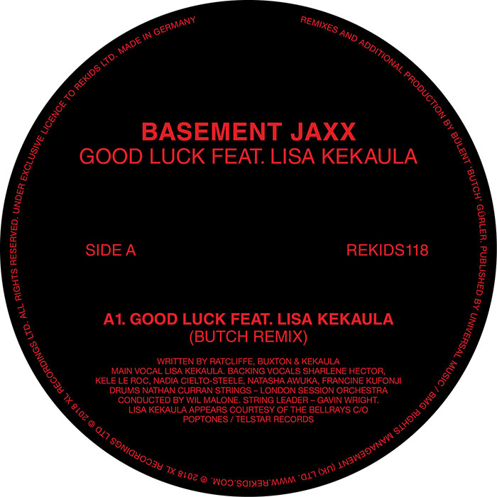 Basement Jaxx - Good Luck (Butch Remixes) cover