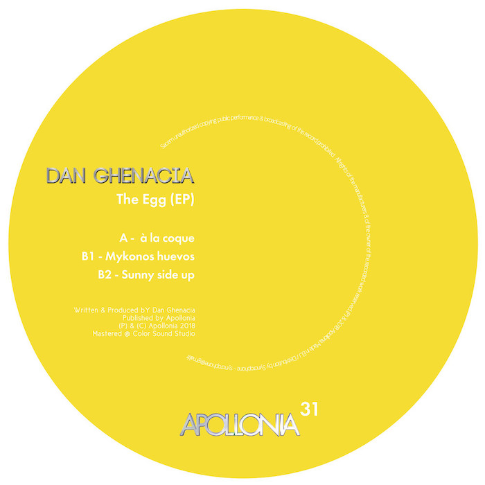 Dan Ghenacia - The Egg EP cover