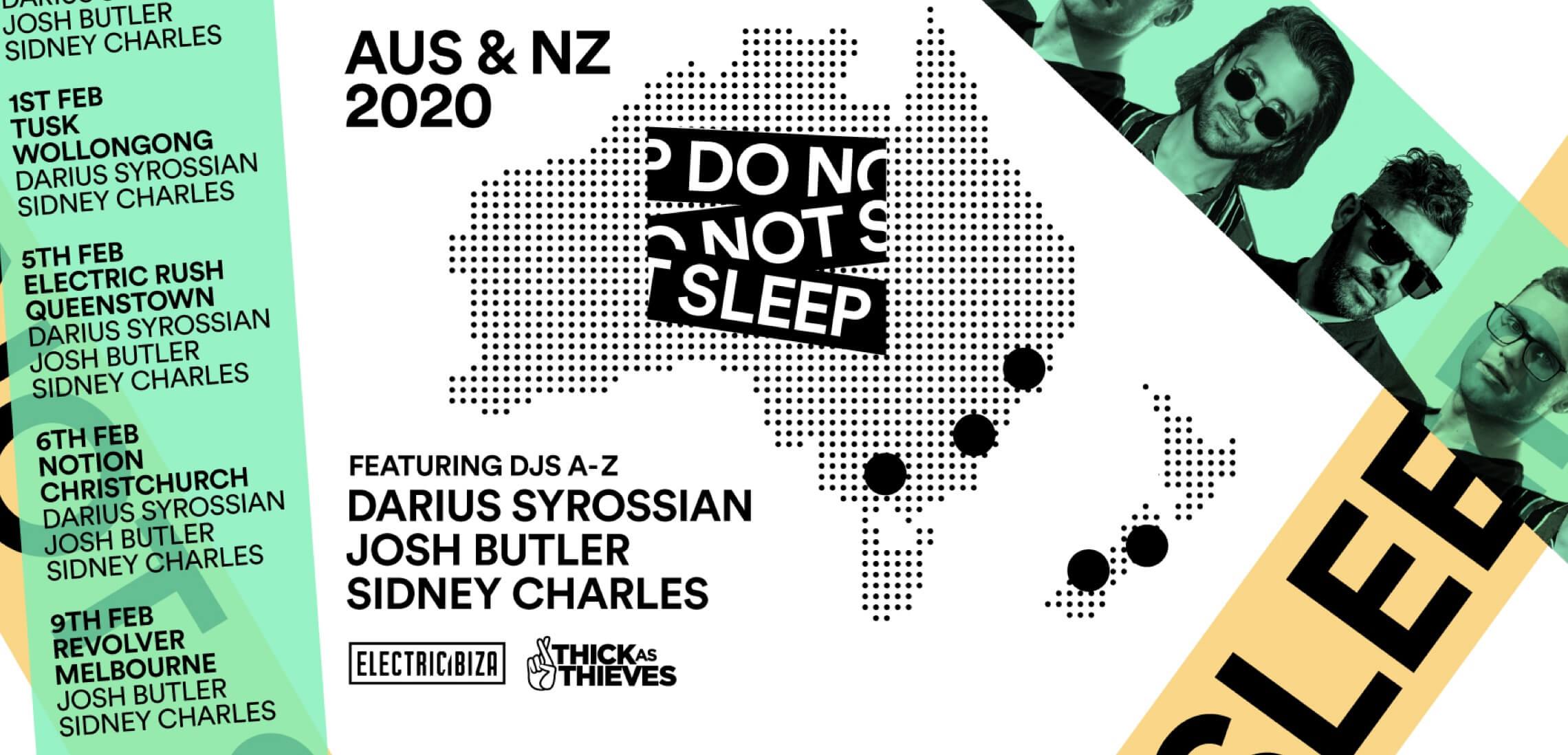 Do Not Sleep announce debut Australia & New Zealand Tour