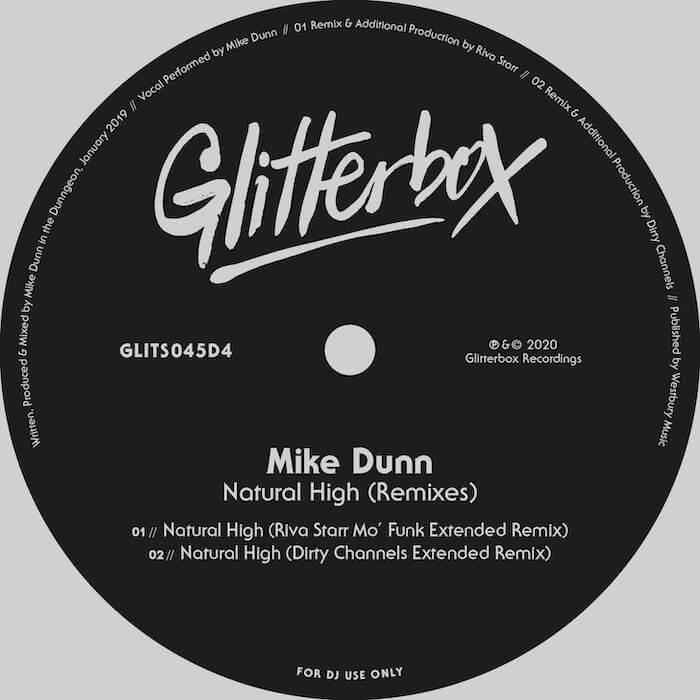 Mike Dunn - Natural High (inc Riva Starr & Dirty Channels remixes) cover
