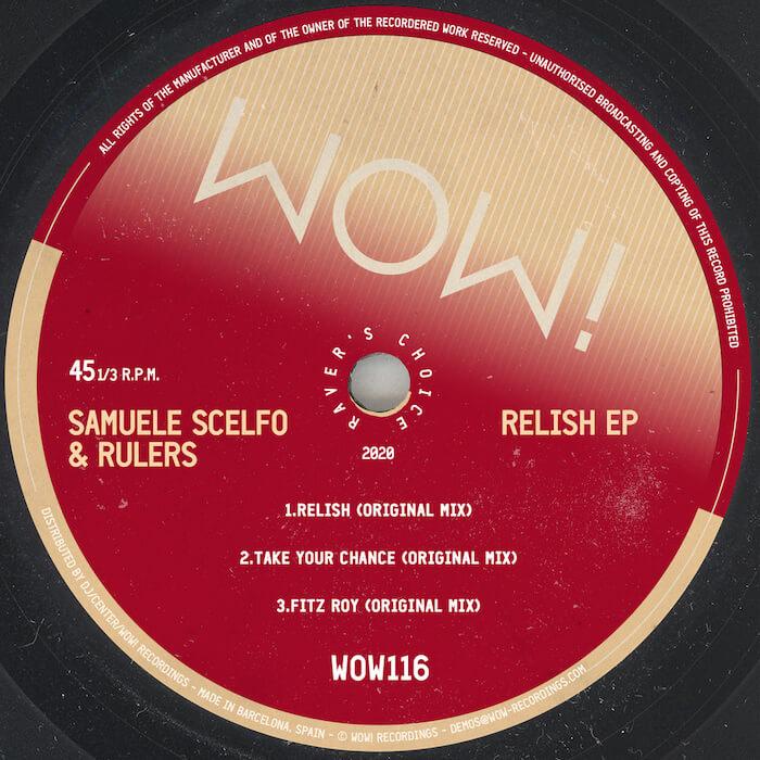 Samuele Scelfo & Rulers - Relish EP cover