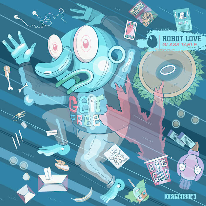 Robot Love - Glass Table cover